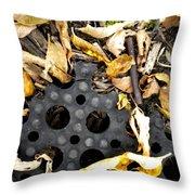 Nature Vs Man Throw Pillow