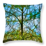 Nature's Church Windows  Throw Pillow