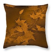 Natures Gold Leaf Throw Pillow
