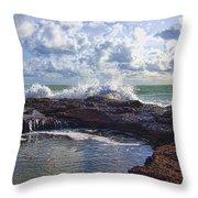 Nature's Hot Tub V2 Throw Pillow