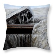 Natures Ice Sculptures 5 Throw Pillow