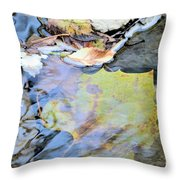 Nature's Leaf Collage Throw Pillow
