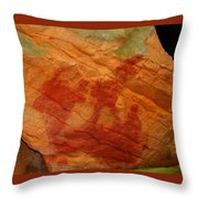Nature's Palette In Stone Throw Pillow