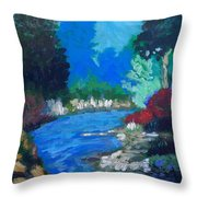 Natures Red White And Blue Throw Pillow