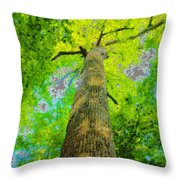 Natures Skyscraper Throw Pillow