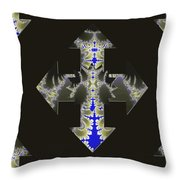 Nautical Cross Throw Pillow