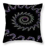 Nautilus Fractal Throw Pillow