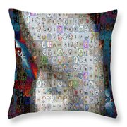 Nautilus Shell Mosaic Throw Pillow