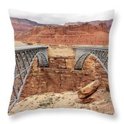 Navajo Bridge In Arizona Throw Pillow