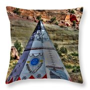 Navajo Trading Post Teepee Throw Pillow