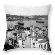 Naval Arsenal And The Golden Horn - Ottoman Empire - Turkey Throw Pillow