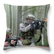 Naval Reservists And Active Duty Throw Pillow