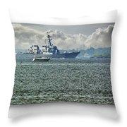 Naval Ship Throw Pillow