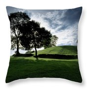 Navan Fort, Co Armagh, Ireland Throw Pillow by The Irish Image Collection