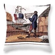 Navigator, 19th Century Throw Pillow