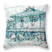 Navigli City Of Milan In Italy Portrait Throw Pillow