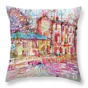 Navigli City Of Milan In Italy Portrait.1 Throw Pillow
