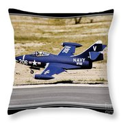 Navy Landing Throw Pillow