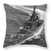 Navy: Uss Bainbridge, 1968 Throw Pillow