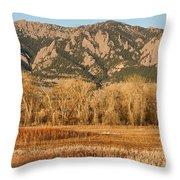 Ncar And Flatiron View Boulder Colorado   Throw Pillow