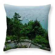 Ne Harbor Maine Seen From Thuya Gardens Mt Desert Island  Throw Pillow