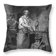 Neagle: Blacksmith, 1829 Throw Pillow