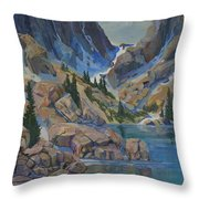 Near Haydens Spires Throw Pillow