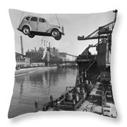 Near London.  The Ford Motor Plant Throw Pillow