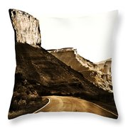 Nearing Moab Throw Pillow