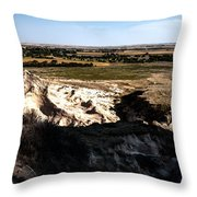 Nebraska Plains Throw Pillow