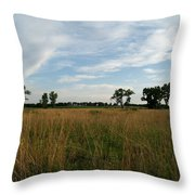 Nebraska Prairie One Throw Pillow