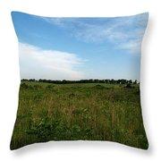 Nebraska Prairie Two Throw Pillow