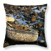 Need A Tire Throw Pillow by Henrik Lehnerer
