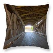 Neet Covered Bridge Interior Throw Pillow