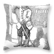 Negro Porter, 19th Century Throw Pillow