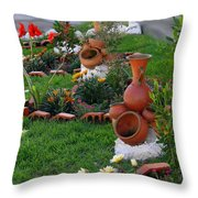 Neighborhood Adornments Throw Pillow