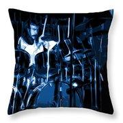 Blue Drums Throw Pillow