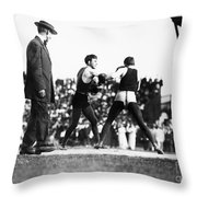 Nelson Vs. Hurley, 1902 Throw Pillow