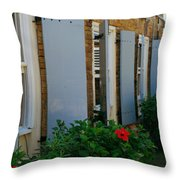 Nelson's Dockyard Street Scene Throw Pillow