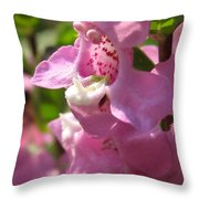 Nemesia Named Poetry Lavender Pink Throw Pillow