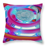 Neon Burner Throw Pillow