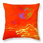 neon III Throw Pillow