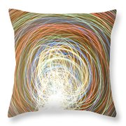 Neon Lights Spinning Throw Pillow