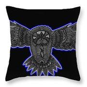 Neon Owl Throw Pillow