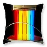 Neon Paintbrush Throw Pillow