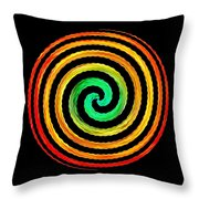 Neon Spiral Throw Pillow