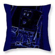 Neon Sponge Bob Throw Pillow