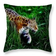 Neon Tiger Throw Pillow