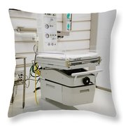 Neonatal Warming Table Throw Pillow