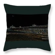 Neoned Pier Throw Pillow